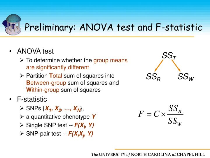 Preliminary: ANOVA test and F-statistic