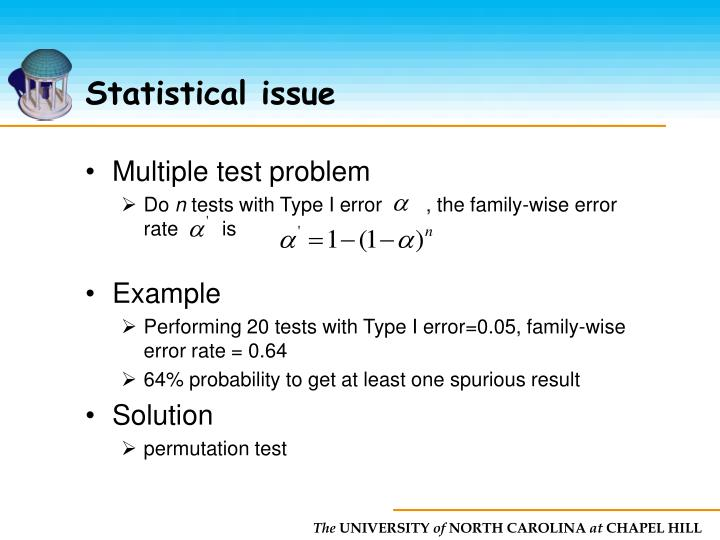 Statistical issue