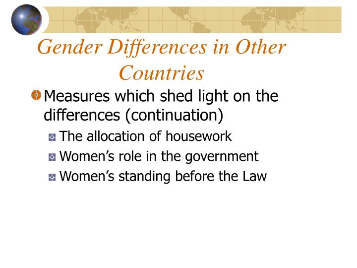 Gender differences in other countries2