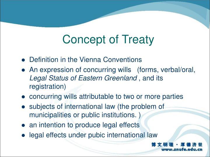 Concept of Treaty
