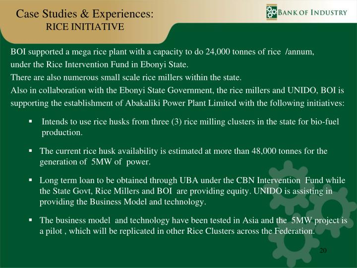 Case Studies & Experiences: