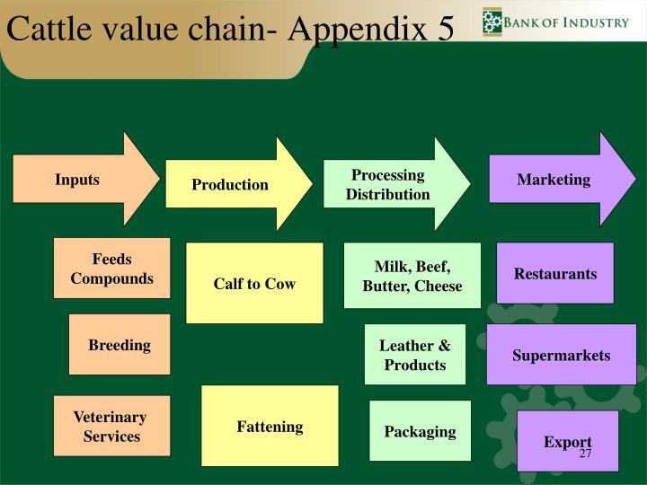 Cattle value chain- Appendix 5