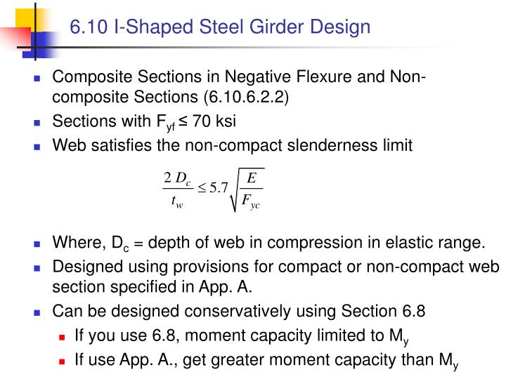 6.10 I-Shaped Steel Girder Design