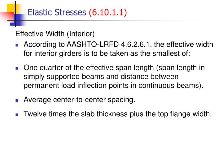 Elastic Stresses