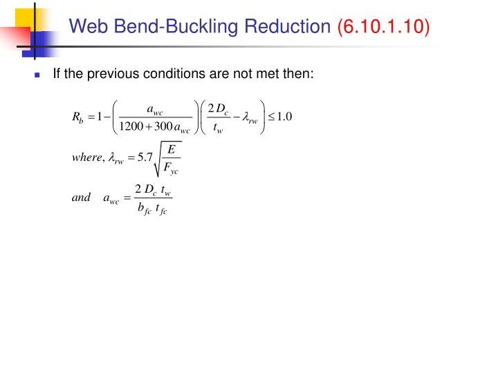 Web Bend-Buckling Reduction