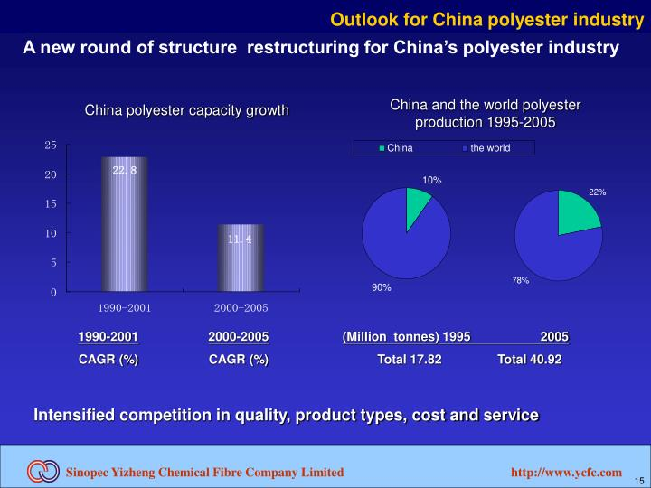 Outlook for China polyester industry