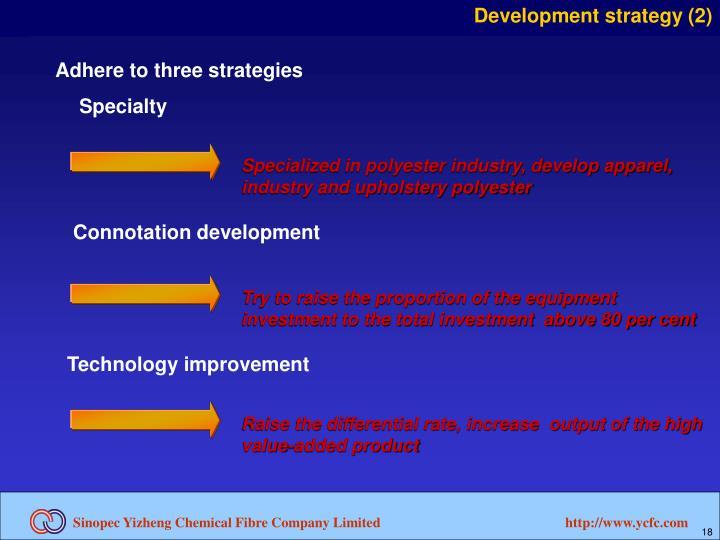 Development strategy (2)