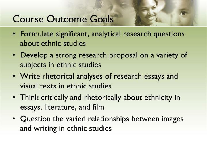 Course Outcome Goals