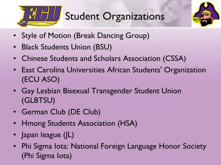 ECU Student Organizations