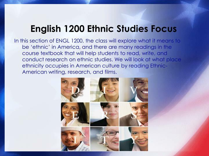 English 1200 Ethnic Studies Focus