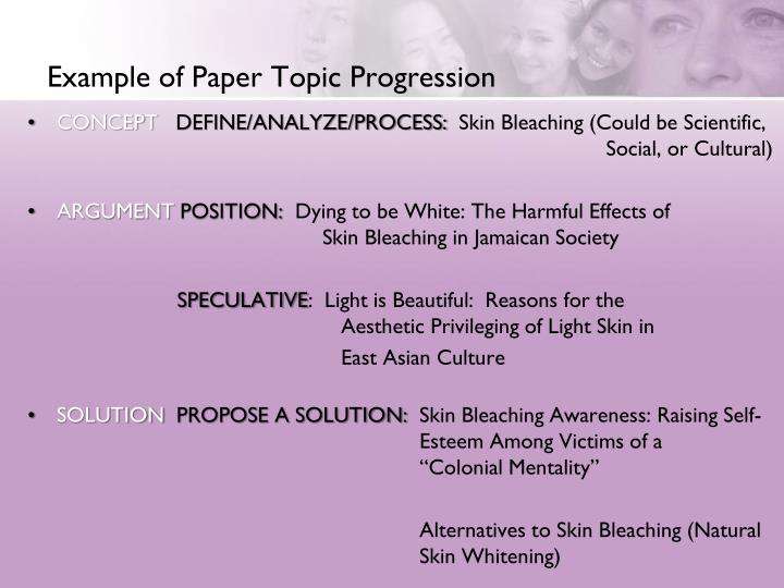 Example of Paper Topic Progression