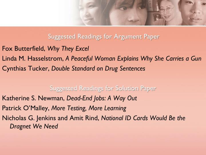 Suggested Readings for Argument