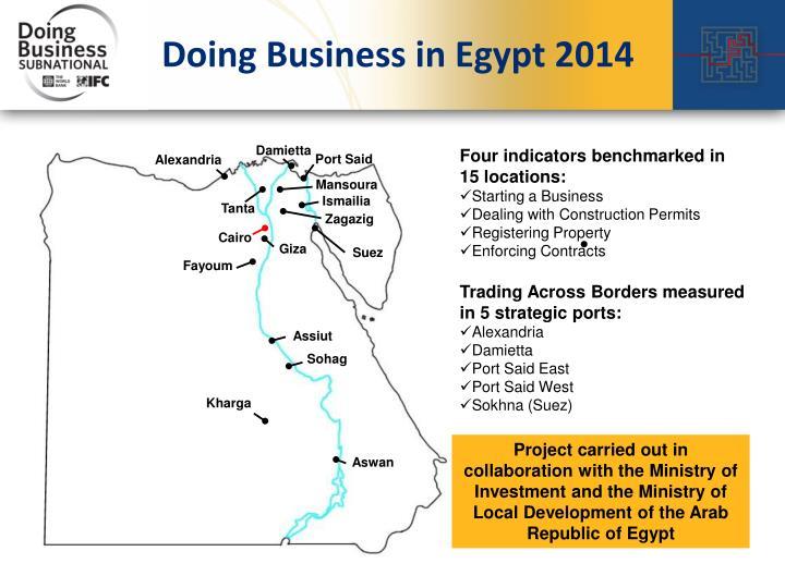 Doing Business in Egypt 2014