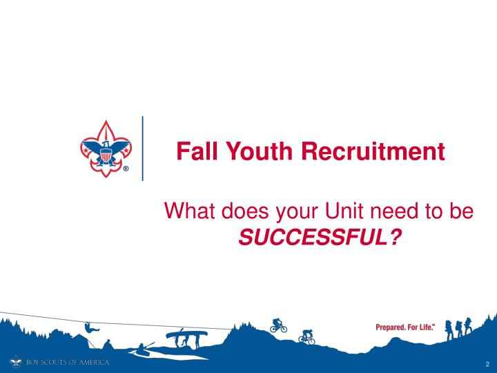 Fall Youth Recruitment