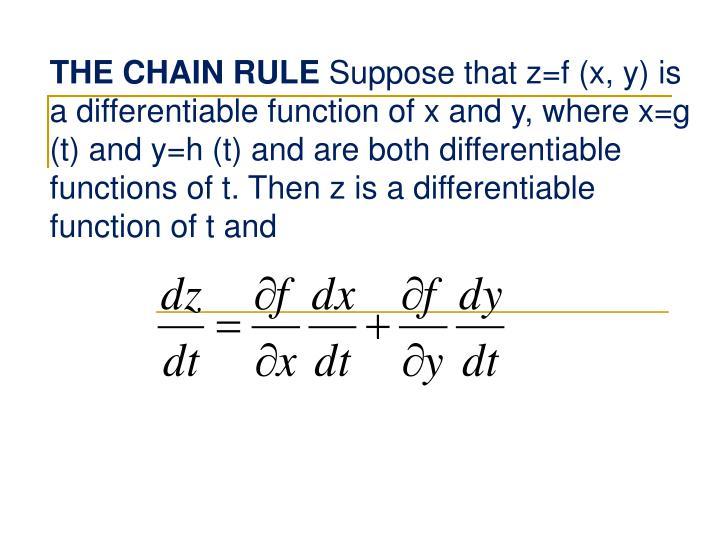 THE CHAIN RULE