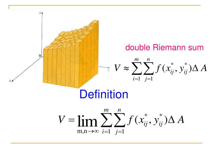 double Riemann sum