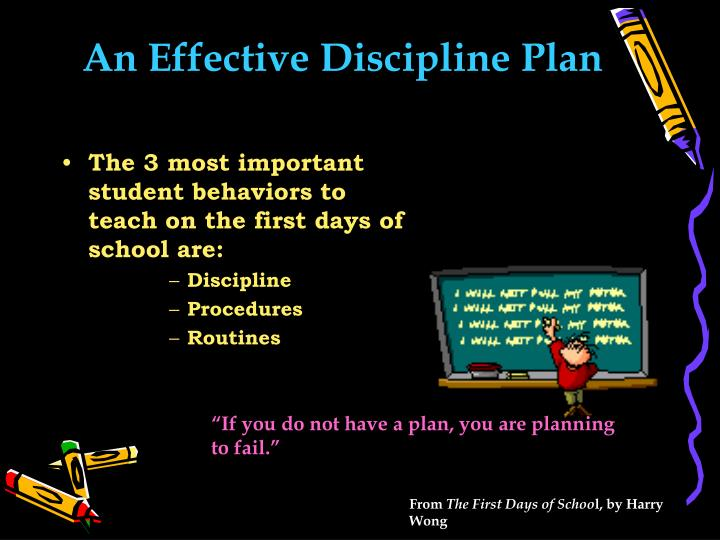 An Effective Discipline Plan