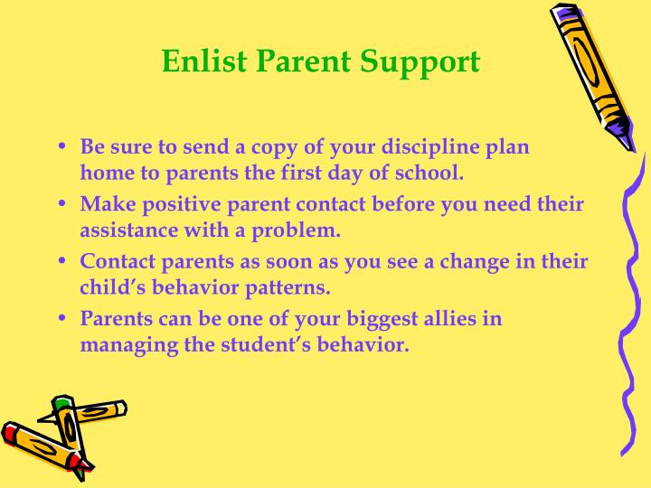 Enlist Parent Support