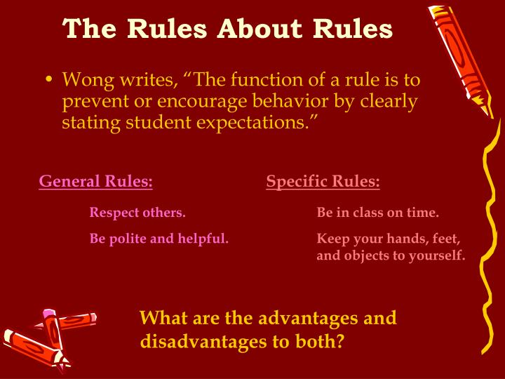 The Rules About Rules