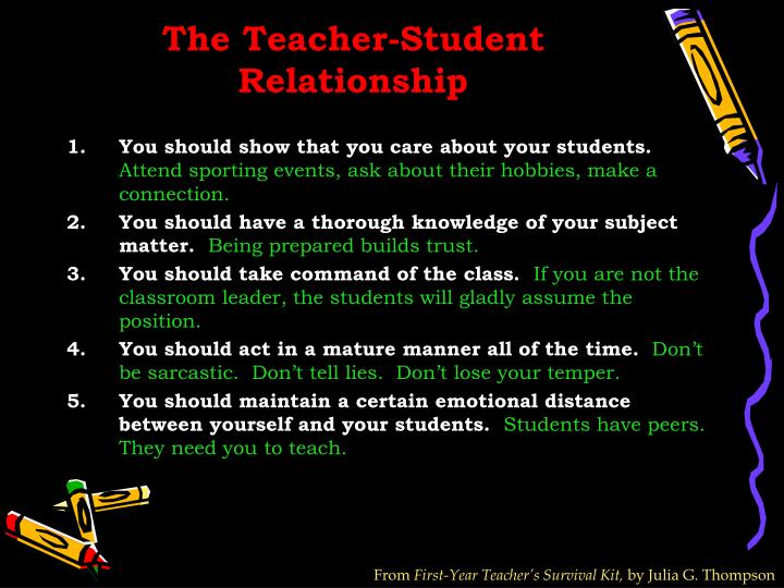 The Teacher-Student Relationship