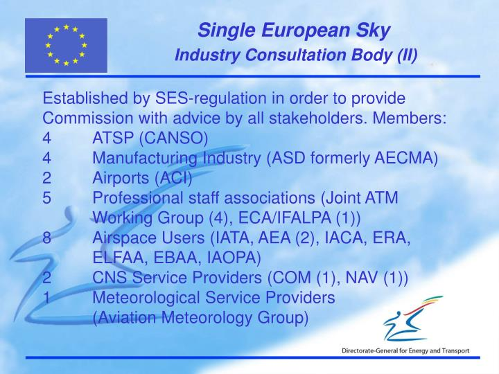 Industry Consultation Body (II)