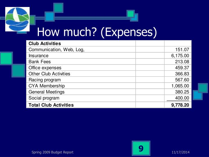 How much? (Expenses)