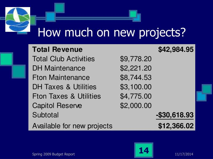 How much on new projects?