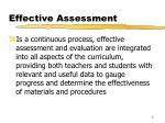 effective assessment