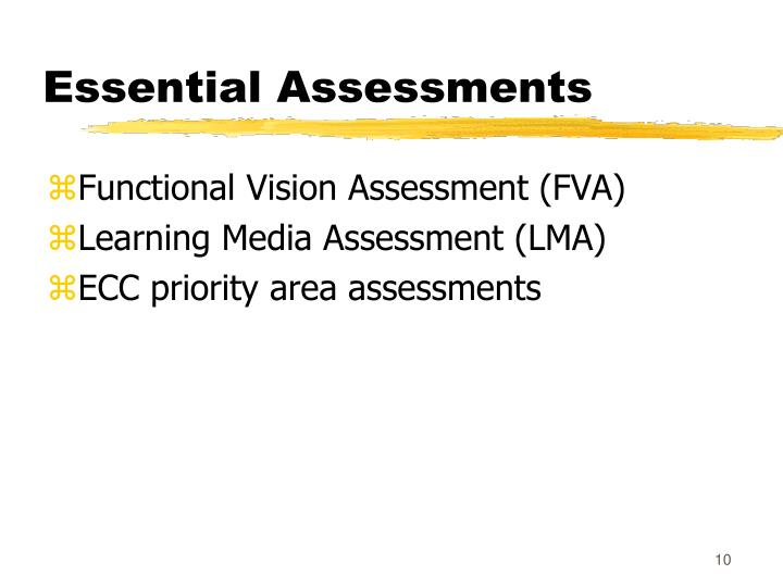 Essential Assessments