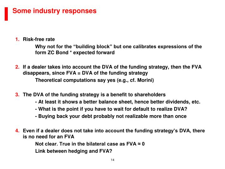Some industry responses