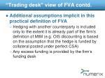 trading desk view of fva contd