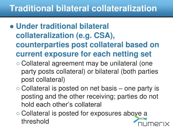 Traditional bilateral collateralization