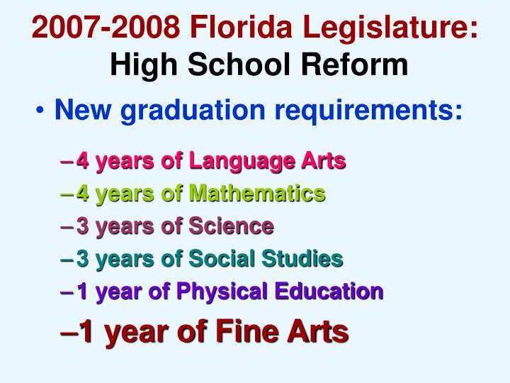 2007-2008 Florida Legislature: