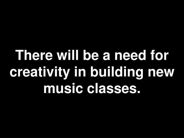There will be a need for creativity in building new music classes.