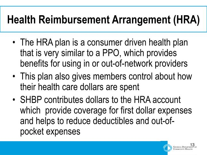 Health Reimbursement Arrangement (HRA)