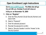 open enrollment login instructions