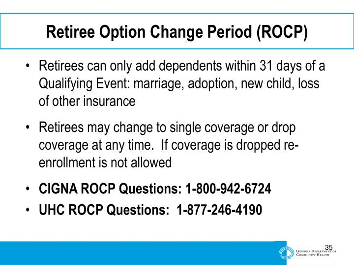 Retiree Option Change Period (ROCP)
