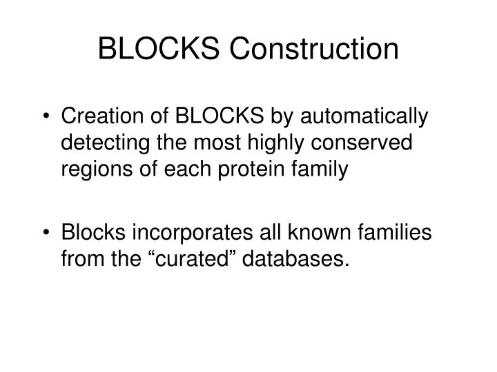 BLOCKS Construction