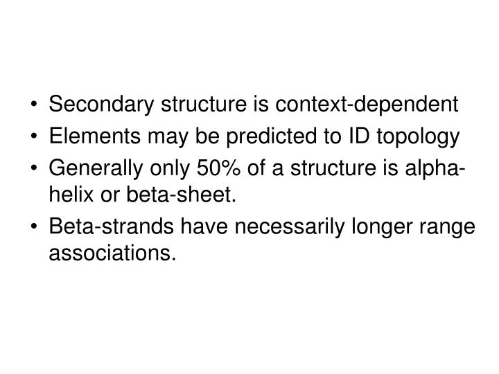 Secondary structure is context-dependent