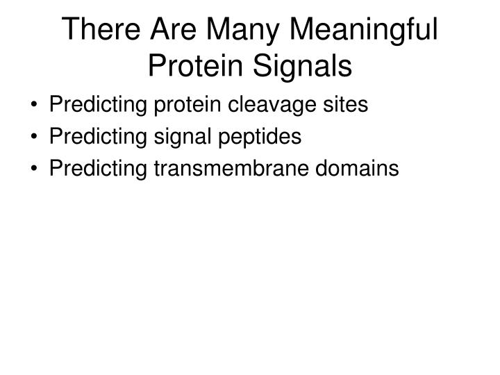 There Are Many Meaningful Protein Signals