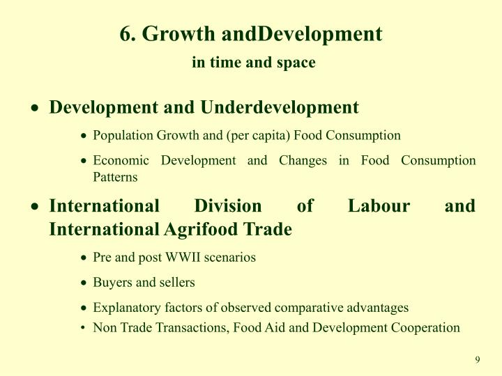 6. Growth andDevelopment