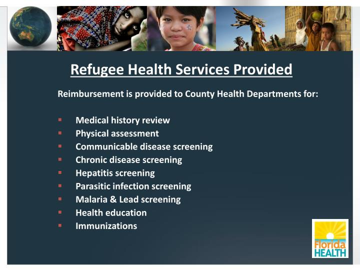 Refugee Health Services Provided