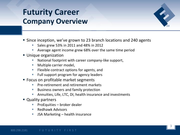 Futurity career company overview