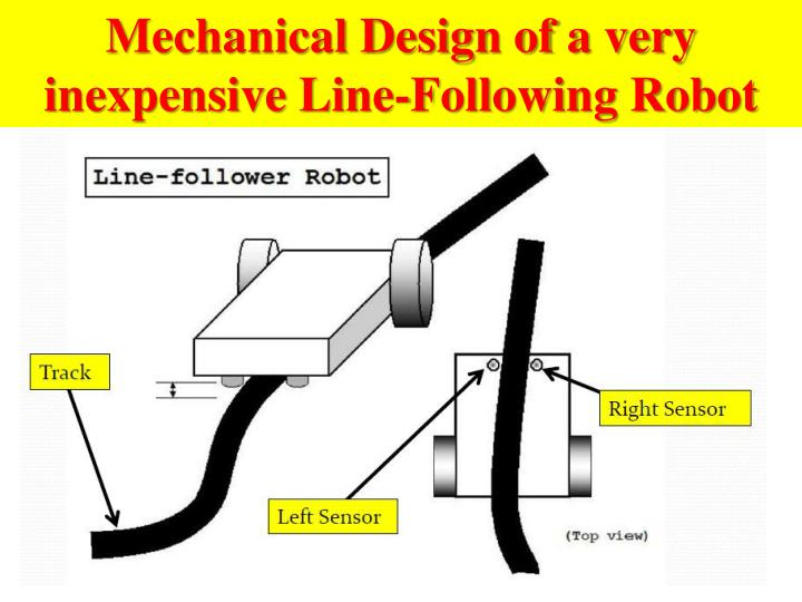 Mechanical Design of a very inexpensive Line-Following Robot