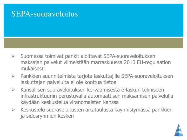 SEPA-suoraveloitus