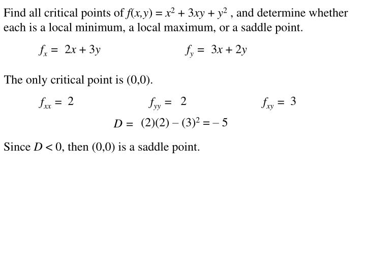 Find all critical points of