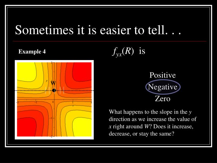 Sometimes it is easier to tell. . .