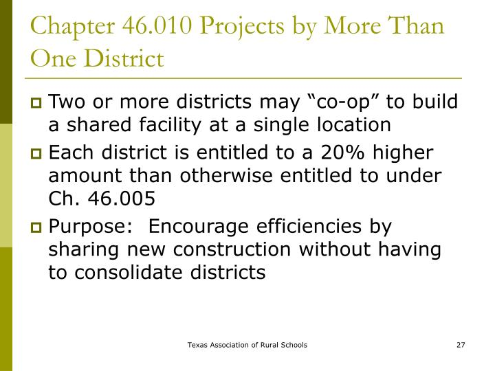 Chapter 46.010 Projects by More Than One District