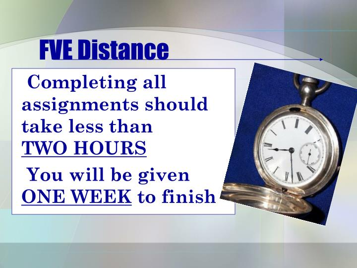 FVE Distance