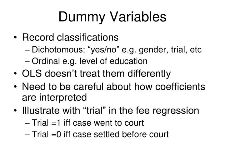Dummy Variables